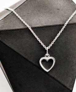 Open Heart Silver Jewellery