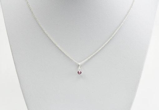 Alexandrite Birthstone Silver Necklace
