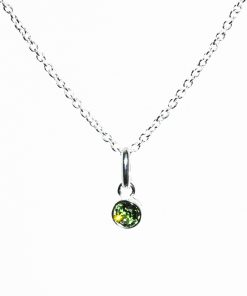 August Peridot NecklaceBirthstone August Peridot Necklace
