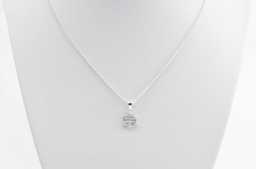 Boats Wheel Silver Necklace