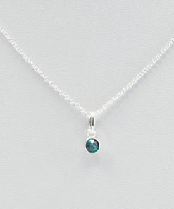 Emerald May Birthstone Necklace