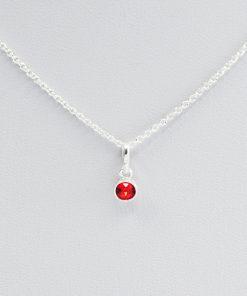 July Birthstone Ruby Necklace