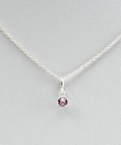 June Birthstone Sterling Silver Charm