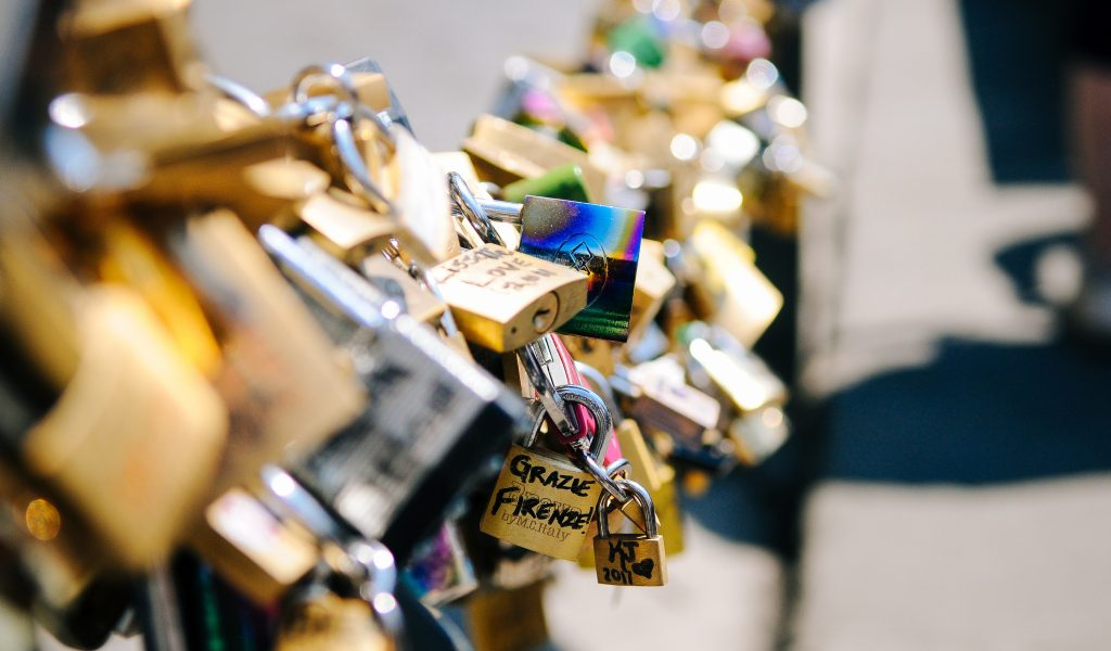 Padlock Love Locking