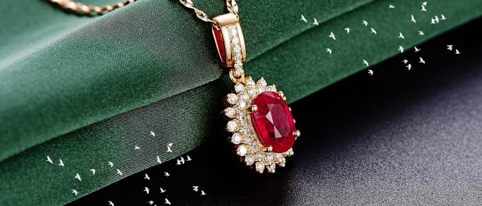 Red Ruby Florin And Finch Jewellery