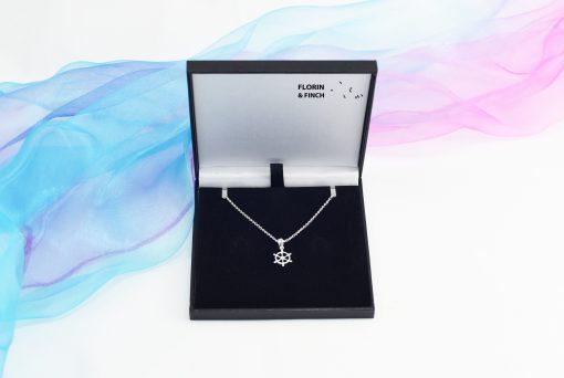 Ships Wheel Silver Necklace