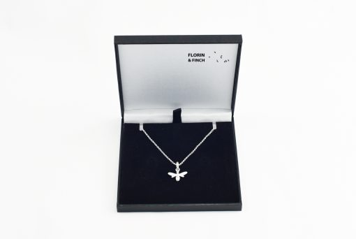 Silver Bee Necklace Case