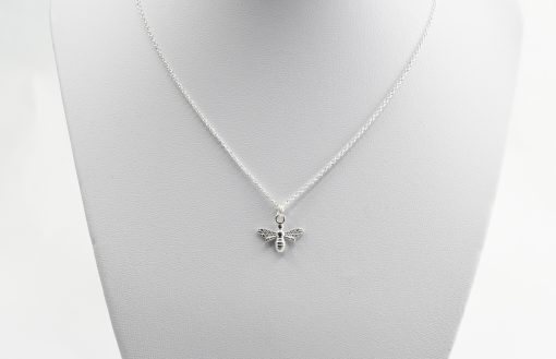 Silver Bee Necklace
