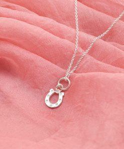 Silver Horseshoe Necklace