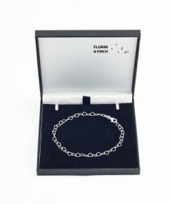 Silver Open Heart Bracelet
