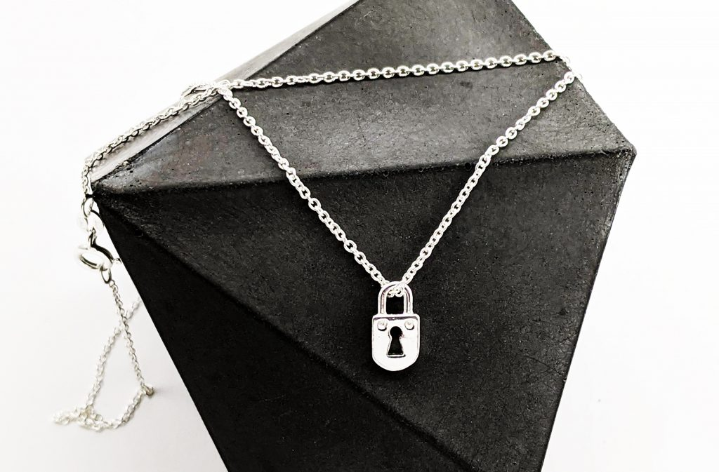 Silver Padlock Jewellery Florin and Finch