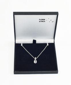 Silver Padlock Necklace