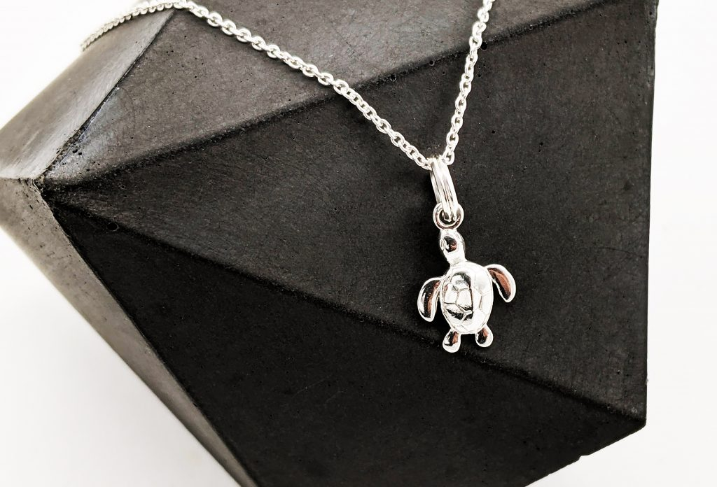 Silver Turtle Jewellery Necklace