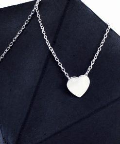 Dainty Heart Silver Jwellery