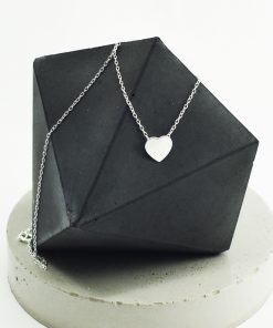 Dainty Heart Silver Necklace