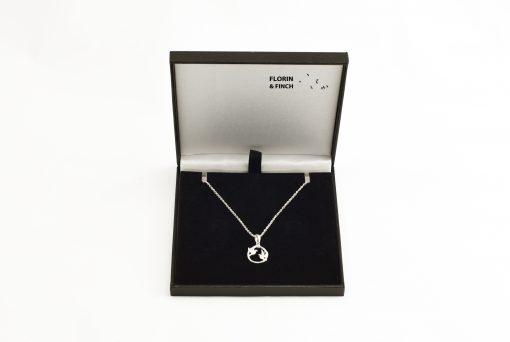 Love Birds Silver Talisman Necklace