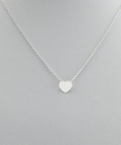 Silver Dainty Heart Necklace