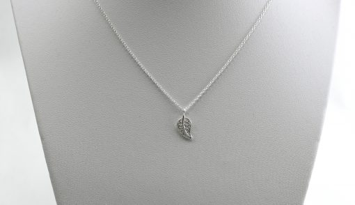 Silver Leaf Charm Necklace
