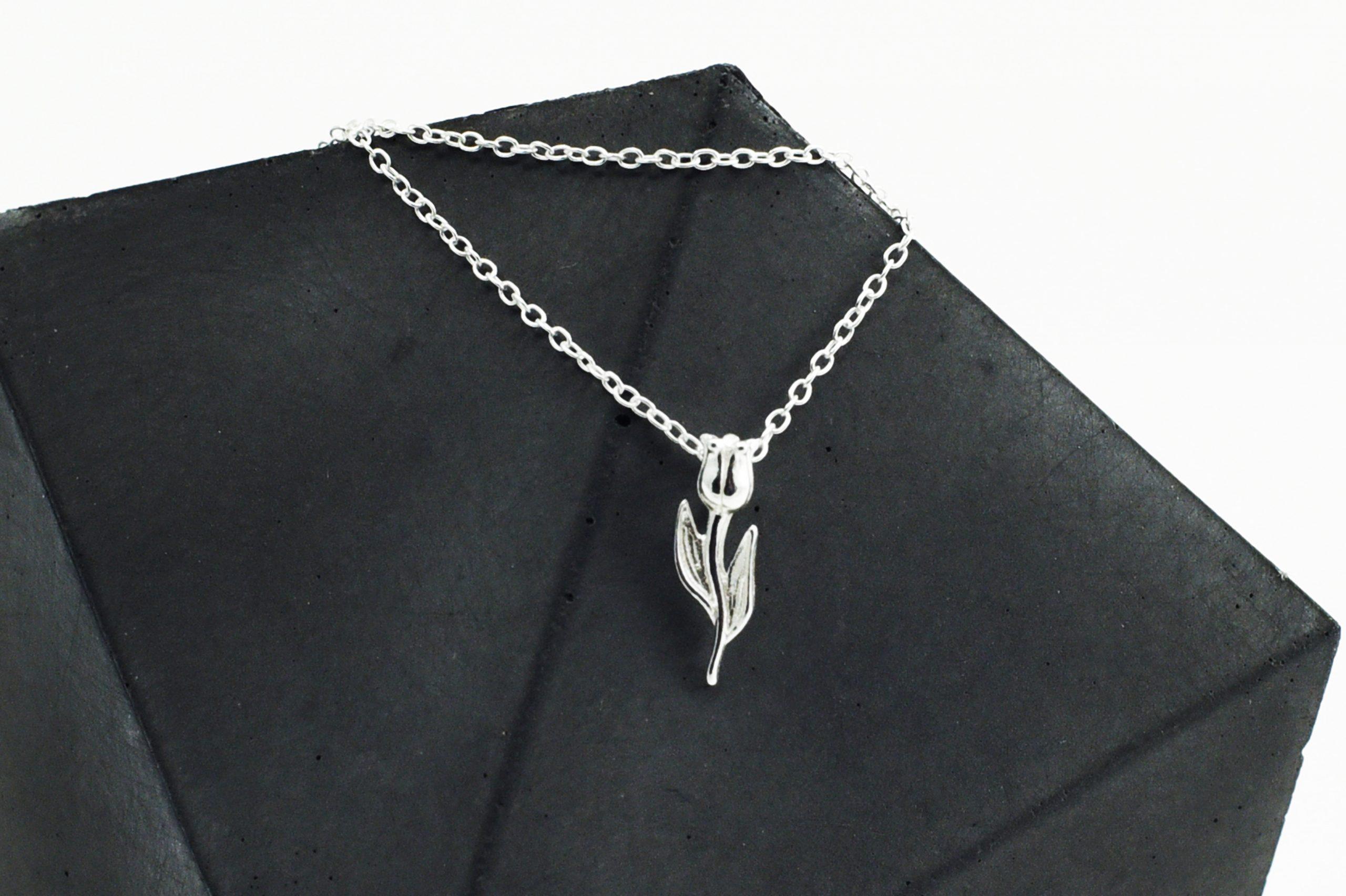 Silver Tulip Necklace