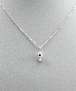 Silve Skull Charm Necklace