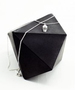 Silver Skull Charm