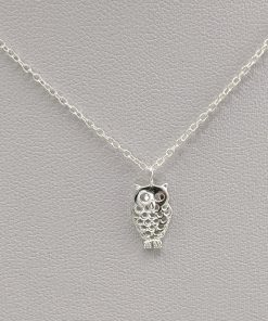 Silver Owl Necklace Jewellery