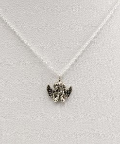 Cupid Charm Necklace Silver