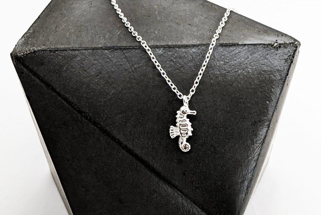 Seahorse Charm Silver